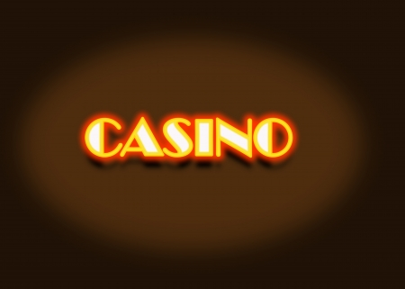 Casino neon light illustration high resolution digital illustration