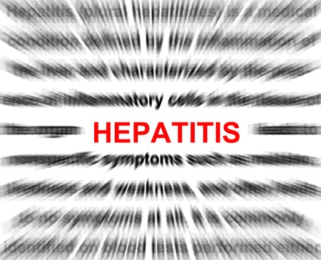 hepatitis vaccination: focus on hepatitis blur radial background abstract