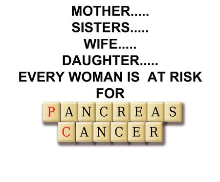 Pancreasl cancer abstract with definition and crossword tile puzzle  photo
