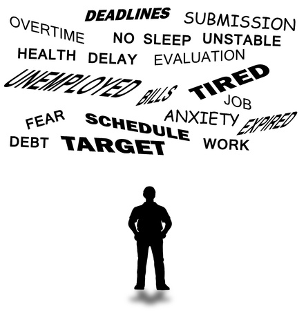 Deadlines and submission abstract with words related isolated in white background  Stock Photo - 16175182