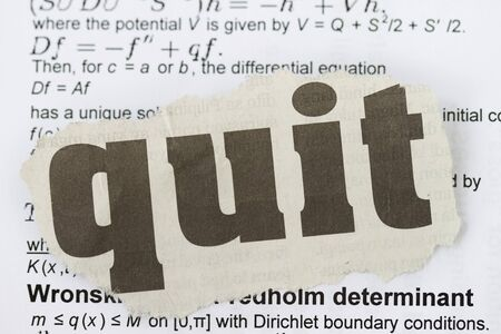 Quit abstract newspaper cut out in many equation background. Stock Photo - 16272089