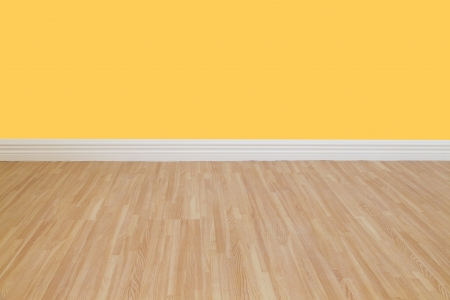Interior of a home with refinished hardwood floors   photo