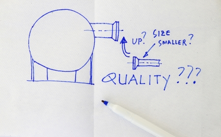 Quality issue in a design- sketch in a napkin  photo