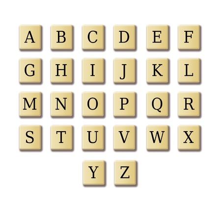 Crossword like alphabet illustration high resolution  Foto de archivo