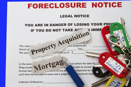 repossessing: Foreclosed notice on a loan mortgage on a property