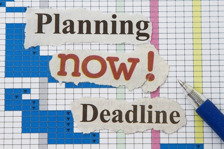 day planner: Schedule abstract with newspaper