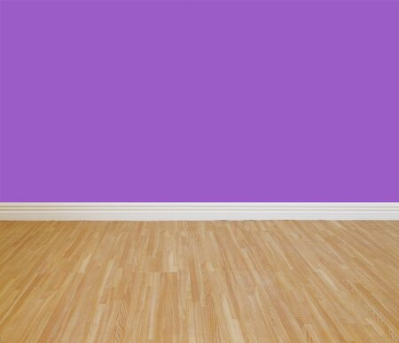 smooth wood: House wall painting with wooden tile floor.