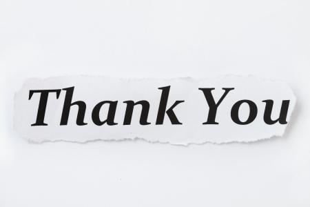 te negro: Gracias gracias concepto o palabra y el papel aislado en el fondo blanco Foto de archivo