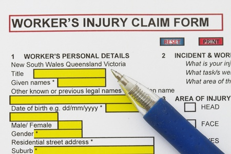 accidental: Accidental Injury Claim Form - many uses in the insurance industry  Stock Photo