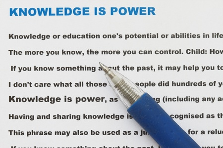 narrative: knowledge is power with narrative document and definition of knowledge power