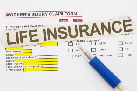 accidental: Accidental Injury Claim Form - manu uses in the insurance industry  Stock Photo