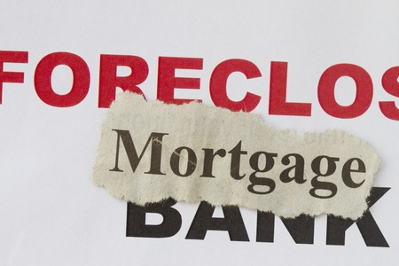 Foreclosed notice on a loan mortgage on a property  photo