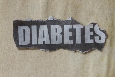 definicion: recorte de periódico con la diabetes palabra