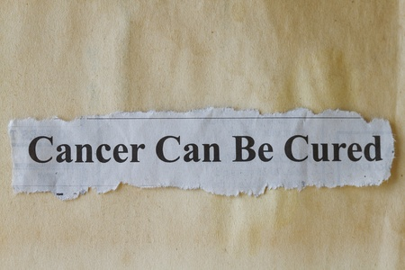 Cancer can be cured abstract Stock Photo - 19977434