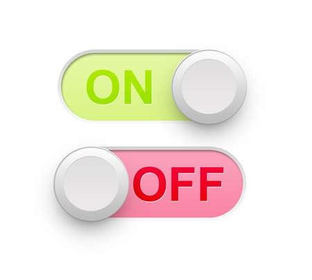 Realistic On Off Switch Icon illustration high resolution illustration
