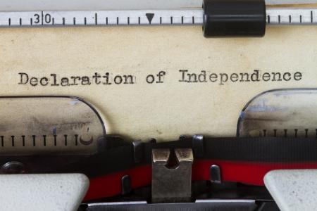 declaration: Declaration of independence Stock Photo
