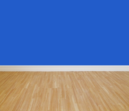 refinish: House wall painting with wooden tile floor