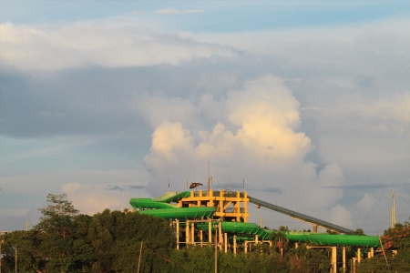 Grand water slide located in Splash Island Manila