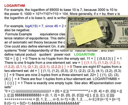 logarithm: Logarithmr with logarithm definition background and dollar