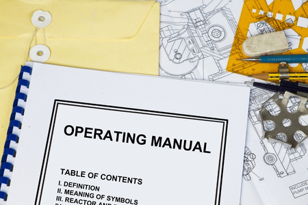 manila envelop: Instruction and Operating manual l of a machinery with engineering tools