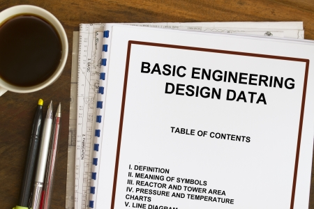 manila envelop: Basic engineering design data