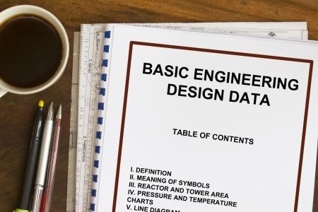 manila envelop: Basic engineering design data