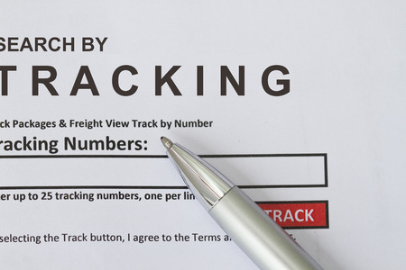 Search by Tracking form, put tracking number in the blank space provided.