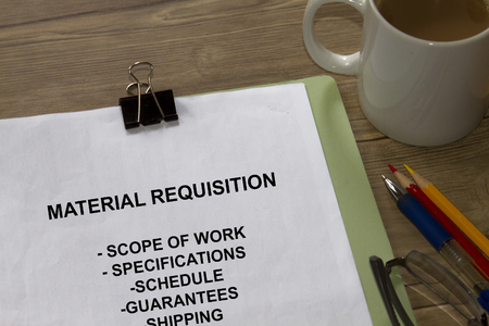 Material Requisition -many uses in the oil and gas industry. Stok Fotoğraf - 80100128