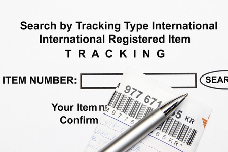 Search item by entering Tracking number code concept.
