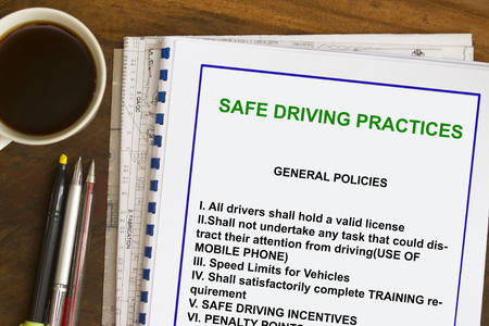 Safe driving practices guidelines- many uses for transport industry Zdjęcie Seryjne - 80618547
