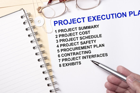 Project execution plan concept- many uses in the manufacturing industry.