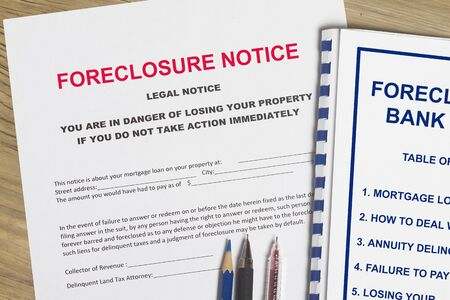 Foreclosure notice and foreclosure workshop cover page.