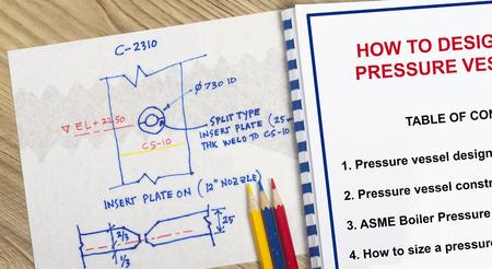 atmospheric pressure: How to design a presure vessel concept Stock Photo