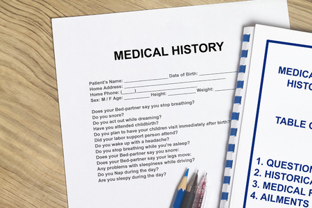 Medical History with cover sheet of a workshop seminar.