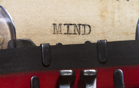 body dimensions: Mind as typed in an old  typewriter on an old paper