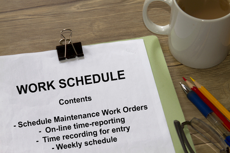 gantt: Work Schedule concept - many uses in the oil and gas industry