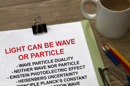 Light can be wave or particle Фото со стока