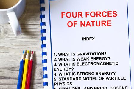 自然の講義はコンセプトを純粋な素粒子物理学の 4 つの力。