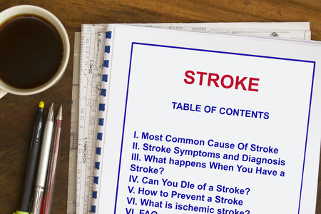 Causes af stroke , need to know urgently the causes. Banco de Imagens