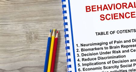 Behavioral Science concept- complete with topics on the cover sheet