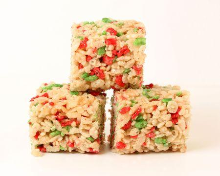 marshmallows: Christmas rice cookies