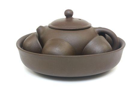 chinese tea pot: Conjunto de pot de t� chino