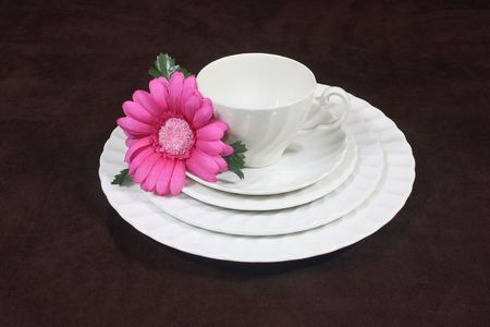 Crisp White Set Of Dishes Stock Photo - 7929149
