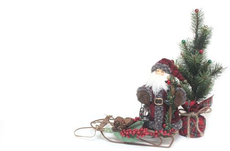 Santa On A Sled Stock Photo - 8011125