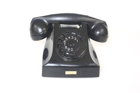 Black Antique Telephone photo