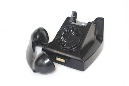 pause button: Black Telephone With Receiver Off Stock Photo