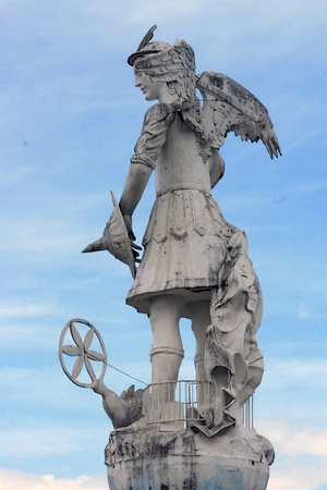gabriel: A statue of the Archangel Gabriel overlooking the city of Ibarra, Ecuador