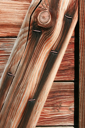 Wood grain in a barn door on a farm in Altona Manitoba Canada