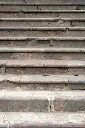 Concrete stairs in Mindo Ecuador