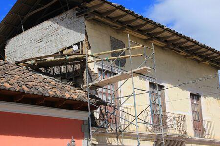 A house under construction in Cotacachi, Ecuador